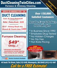 Specials - Duct Cleaning Twin Cities