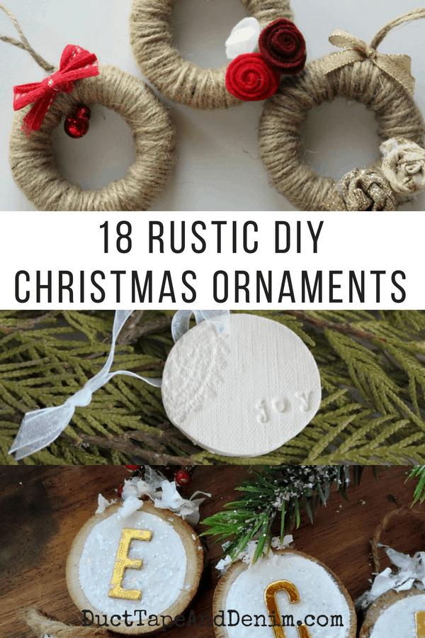 18 Rustic Style Diy Christmas Ornaments