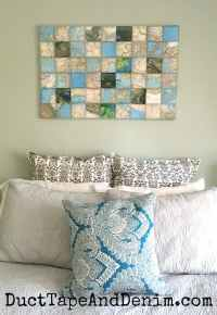 World Map Art Collage on Canvas