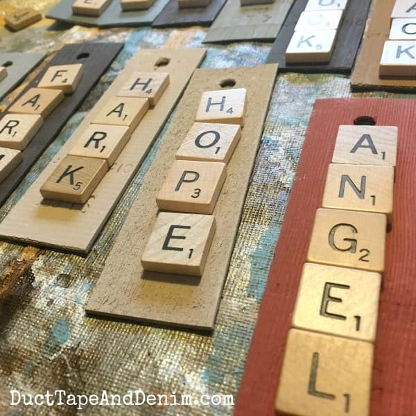 how to make scrabble christmas ornaments