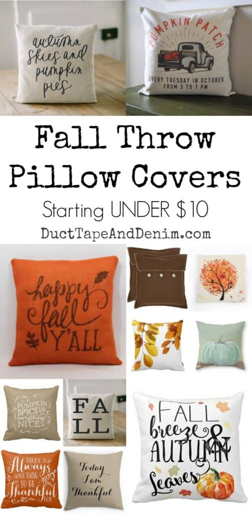 Pillow Covers  Fall Pillows Starting UNDER 1000