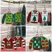 Ugly Christmas Sweater Earrings | What to Wear to Ugly ...