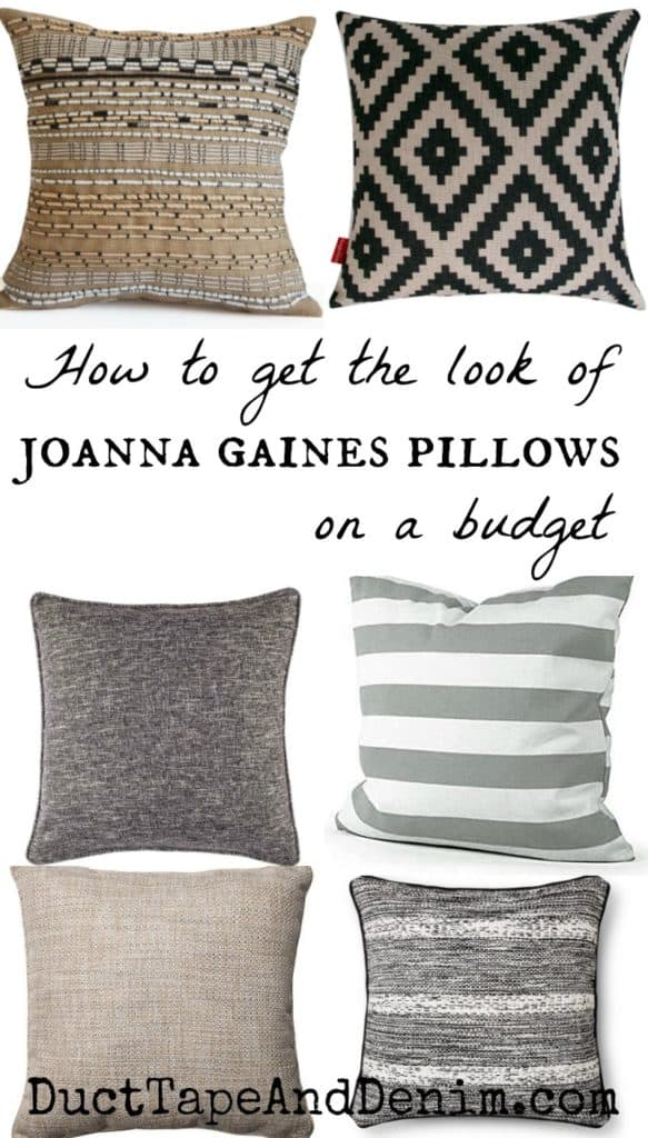 ivory sofa cover seats and sofas telefoonnummer how to get the look of joanna gaines pillows on a budget