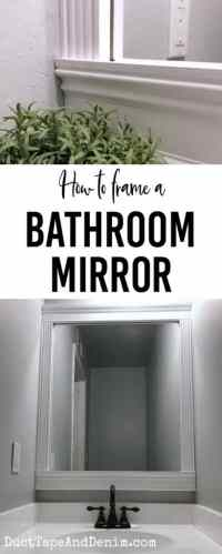 How to Frame a Bathroom Mirror, an EASY DIY Home Decor Project