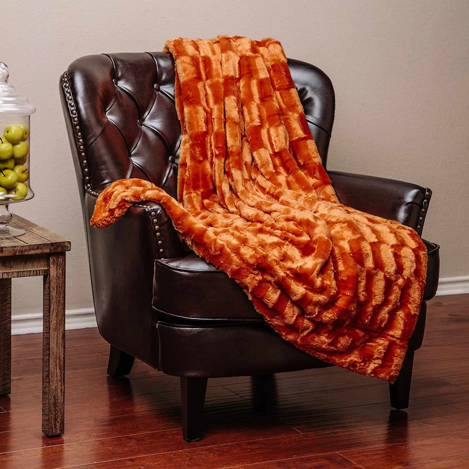 sherpa dish chair game amazon orange fur throw blanket duct tape and denim