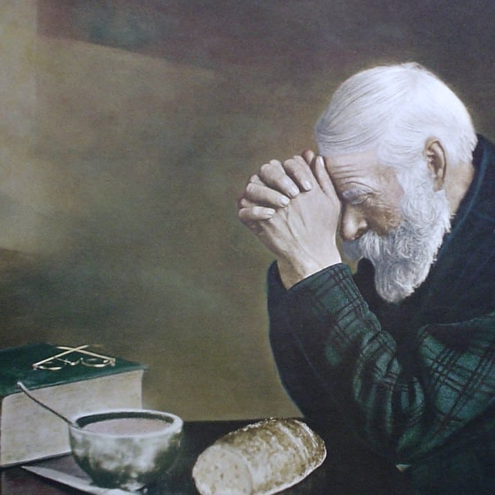 Day 28  The Story Behind the Painting of Praying Man