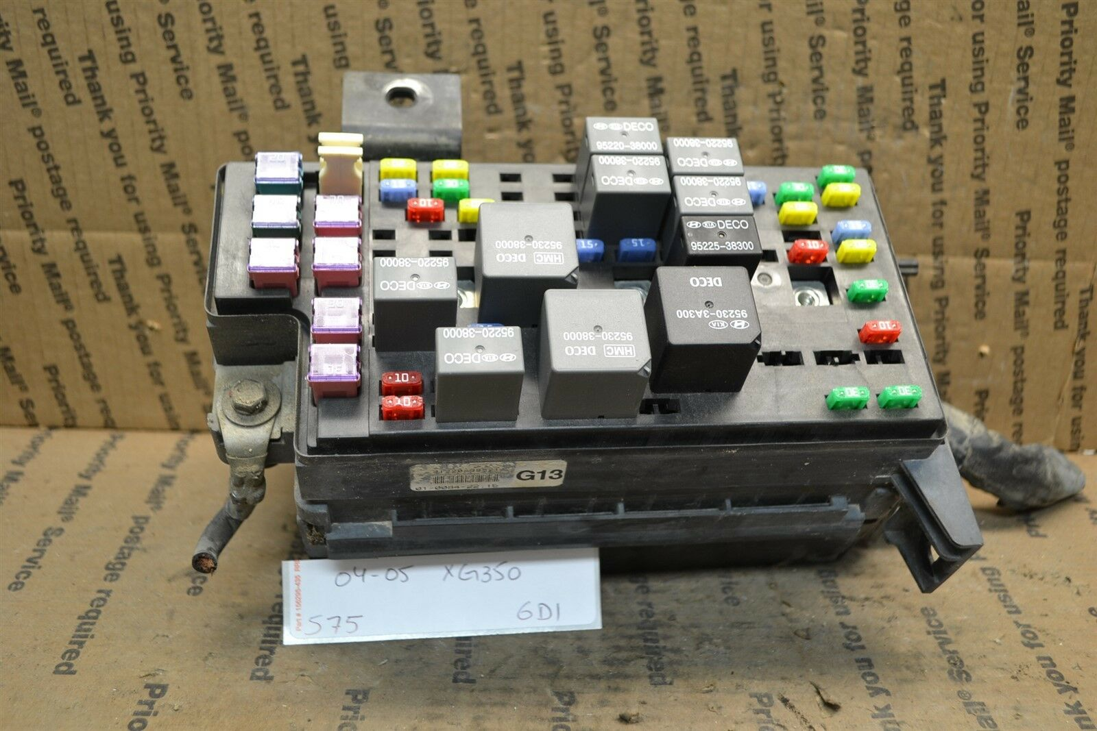 medium resolution of 2004 2005 hyundai xg350 fuse box junction oem 9122039521 module 575 6d1