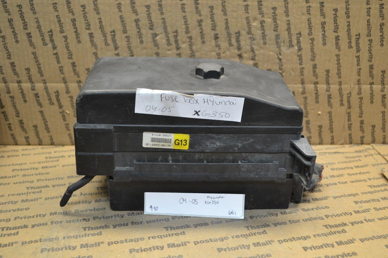 medium resolution of 2004 2005 hyundai xg350 fuse box junction oem 9122039521 module 940 6e1