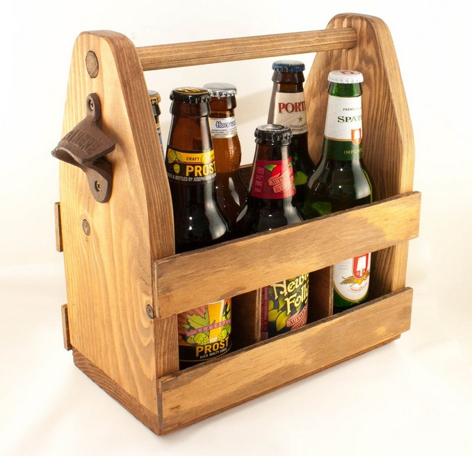 beer carry case and bottle opener