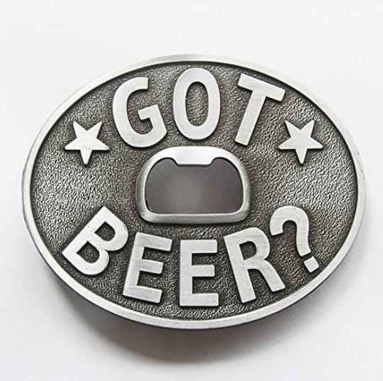 belt buckle beer bottle opener