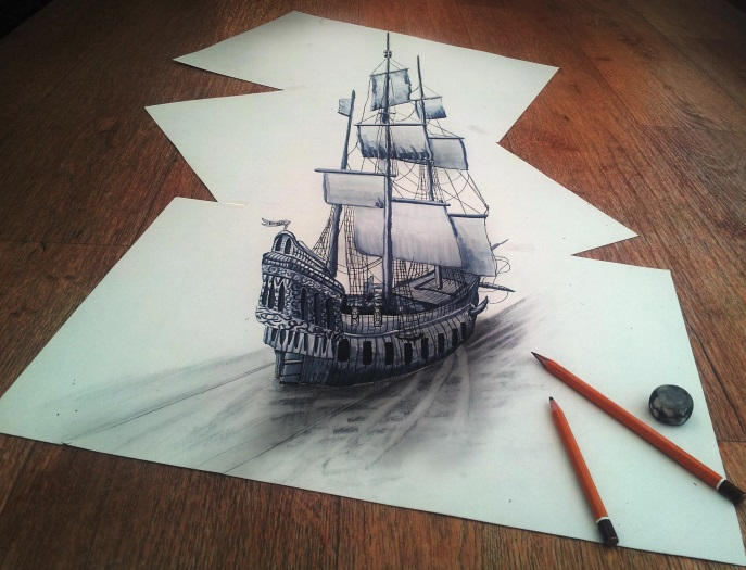 3d life look alike drawing