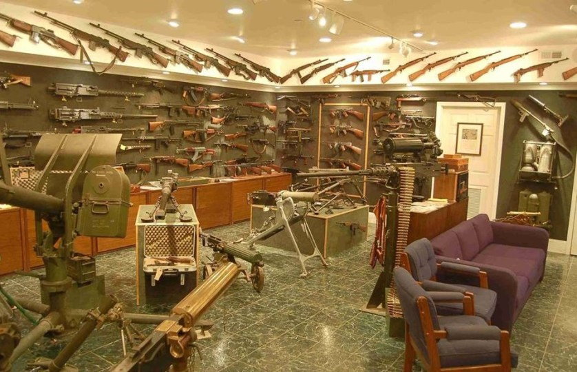 room full of guns