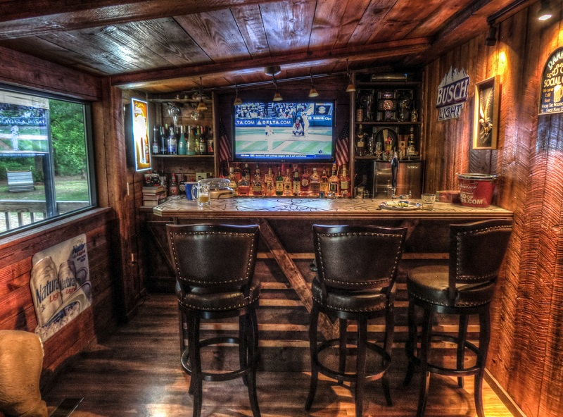 ultimate man cave bar. Most man caves have a bar built in as matter of course  but if you are truly passionate about drinks and the entire experience why not go extra Best Man Cave Theme Ideas Part 1 DudeLiving