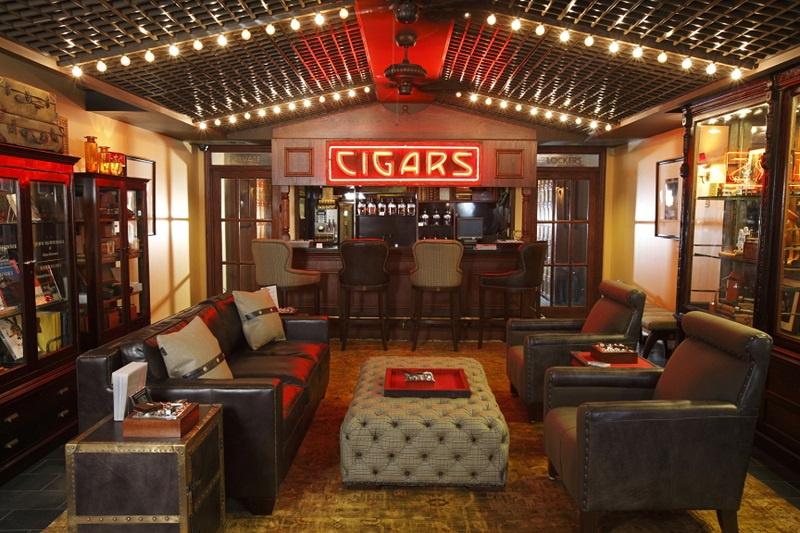 cigar lounge man cave idea