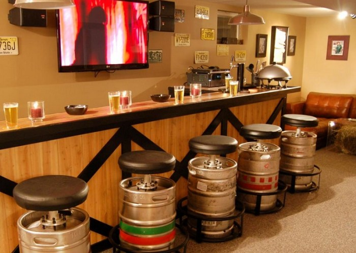keg bar stool man cave