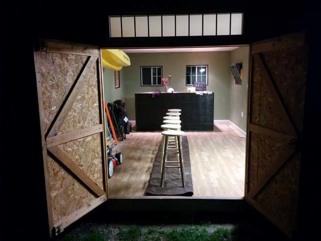 Barn meets Bar and Becomes the Ultimate Man Cave Backyard