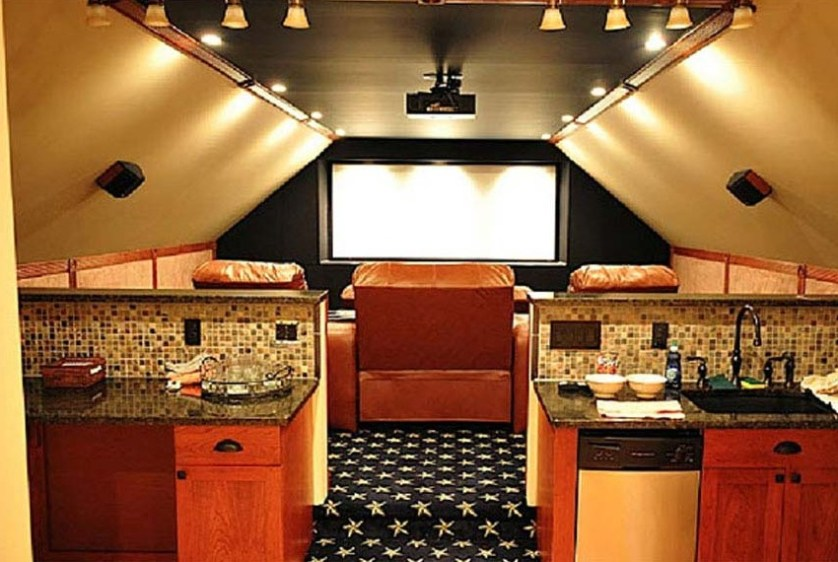 man cave movie room