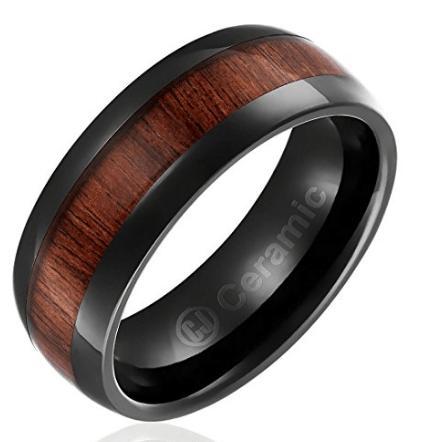 Black engagement ring for men