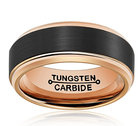 Confortable wedding rings for men black
