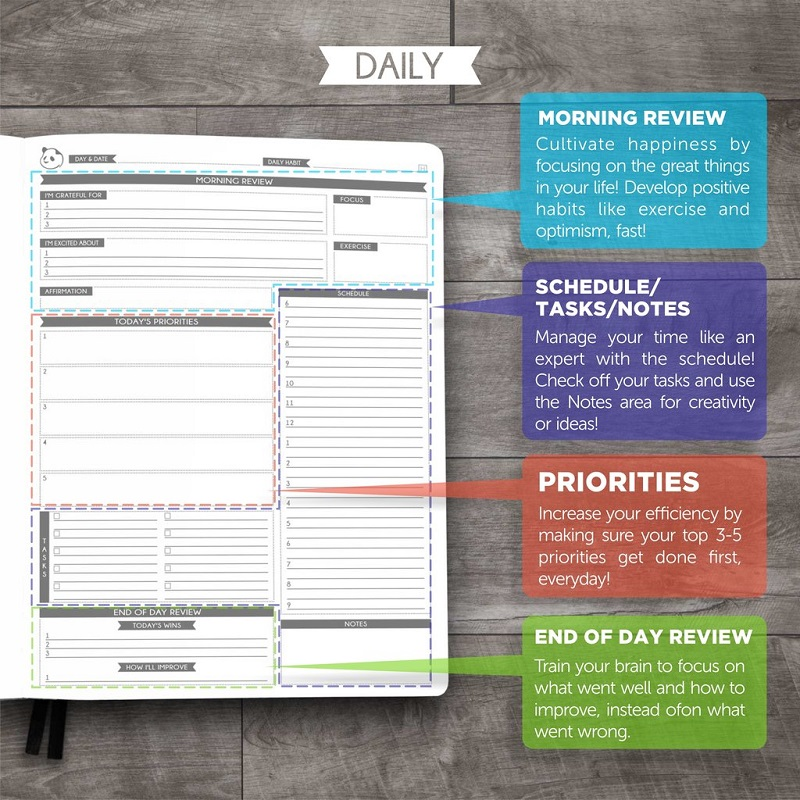 panda planner pro review best daily planner for happiness productivity dudeliving. Black Bedroom Furniture Sets. Home Design Ideas