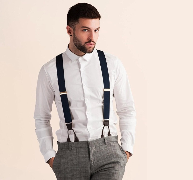"""401bbfc67a22 JJ Suspenders is named for the two founders of the company, Jackson and  Josh…hence """"JJ."""" They discovered how awesome it was to wear suspenders  instead of a ..."""