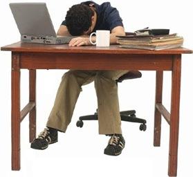 asleep at the desk