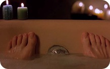 dude's toes in tub