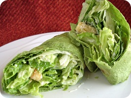 caesar salad wrap from hell