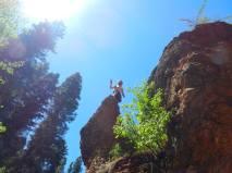 Climbing Around Grotto Falls Outside Provo, Utah