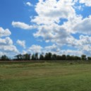 Beautiful Clouds on the Anacostia Trail in Edmonston, Maryland
