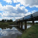 Train over the Anacostia River on the Anacostia Trail in Edmonston, Maryland