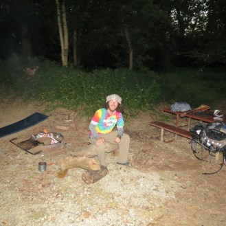 Camp setup at Pennyfield Lock on the C&O Canal