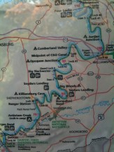C&O Canal Map (2 of 4)