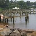 Docks at Jonas Green Park in Annapolis, Maryland