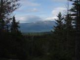 View of Mount Katahdin from the 100-mile Wilderness in Maine
