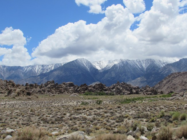 Looking up to Mount Whitney from the Alabama Hills Outside Lone Pine, CA