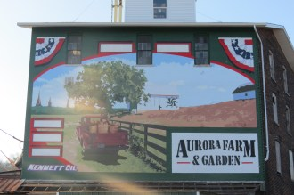 Farm and Garden Mural in Aurora, Indiana