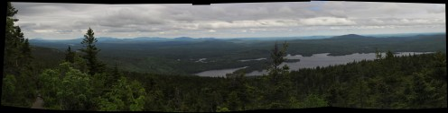 Bald Mountain in the 100-Mile Wilderness in Maine Panorama