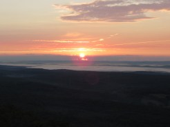 Sunrise from Catfish Fire Tower Outside Delaware Water Gap, New Jersey
