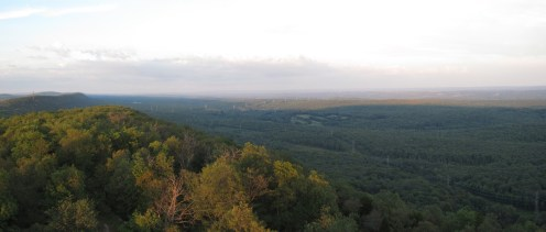 Sunset from Catfish Fire Tower Outside Delaware Water Gap, New Jersey Panorama