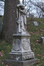 Grave in the Woodland Cemetery in Dayton, Ohio