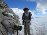Standing at the Top of Forester Pass at 13,153 feet