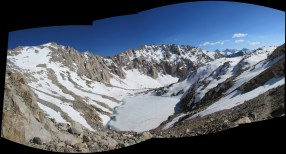 Glen Pass in Kings Canyon National Park Panorama