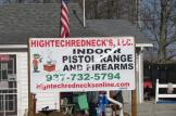 High Tech Redneck Sign in New Vienna, Ohio