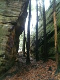 Sandstone Formation at the Hocking Hills Rappelling Area