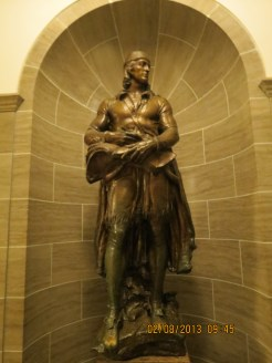 William Clark Statue in the Jefferson City State Capital Building
