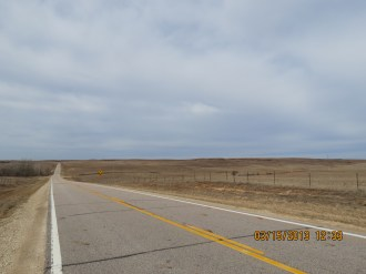 Long Flat Road Outside Brookville, Kansas