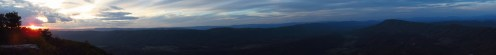 McAfee Knob Outside Catawba, Virginia Panorama