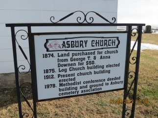 Misspelled Asbury Church Sign