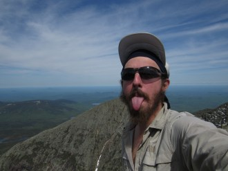 Mount Katahdin Summit Selfie in Maine